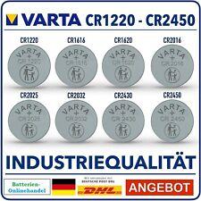 Varta Knopfzellen CR2032 CR2025 CR2016 CR1220 CR1616 CR1620 CR2430 CR2450 !!!!
