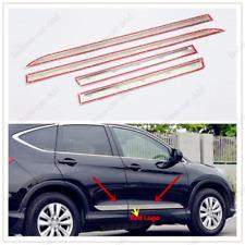 For Honda CRV CR-V 2012-16 Stainless Steel Body Side Molding Trim with Red Logo