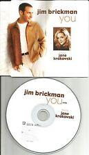 JIM BRICKMAN you  ULTRA RARE USA PROMO Radio DJ CD Single 2002 w/ PRINTED LYRICS