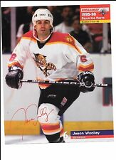 Jason Woolley Unsigned 8x10 Stadium Giveaway 1995-96 Florida Panthers #14 of #40
