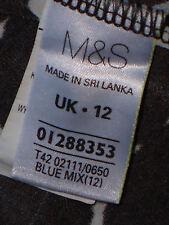 M&S SmartBlueGreyBodyConStretchSize12asNEW