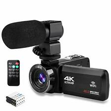 Video Camera 4K Camcorder Ultra HD Vlogging Camera for YouTube48MP 16X Digita...