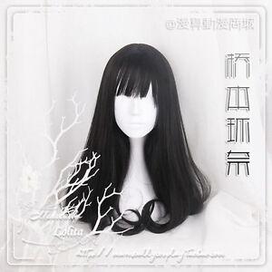 LMJF108 fashion long black natural lolita health hair  wig  wigs for women