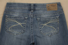 Silver Aiko Size 27 Medium Wash Boot Cut Stretch Jeans Inseam 31