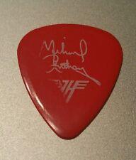 VAN HALEN Logo Michael Anthony Signature 1980s Concert Tour red Guitar Pick rare