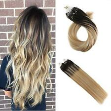 Micro Loop Balayage Remy Human Hair Extensions Brown to Caramel Blonde #2/27/613