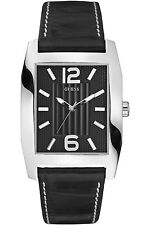 GUESS STEEL W70023G1,Men's Dress,Quartz,Stainless Steel Case, Leather Strap,WR