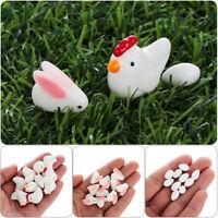 10Pcs Happy Easter Ornament Eggs Rabbit Chick Mini Resin Micro Landscape Garden