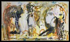 Portrait abstraction HST signée Dominique CHAN (1950- ) Quimper France