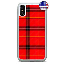 Red Plaid Christmas Buffalo Phone Case Cover For iPhone Xs Max XR X 8 7 6 Plus 5