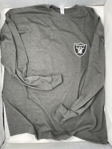 Las Vegas Raiders Long T-Shirt Gray 2XL Graphic Men Cotton Chest