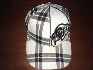 Colorado Buffaloes Stretch Fit Hat (Baseball Cap) Small Plaid