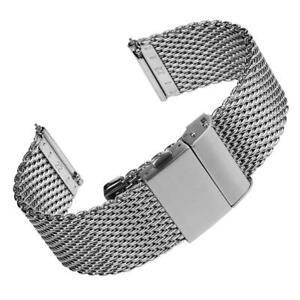 Merriott Quick-Release Milanese Mesh Stainless Steel Polished Watch Strap