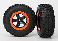 Traxxas Reifen+Felge montiert (2) Slash vo schw/orange Beadlock - TRX5864
