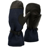 Winter Gloves Genuine Dutch Army Leather Extreme Cold Weather Navy Blue Civil