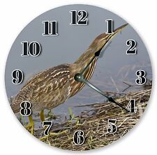 "10.5"" AMERICAN BITTERN BIRD CLOCK - Large 10.5"" Wall Clock - Home Décor - 3126"