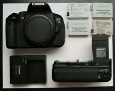 Canon EOS Rebel T4i / EOS 650D BODY ONLY w/ extra batteries - DSLR - 18.0 MP