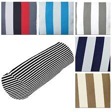 Bolster Cover*Stripes Cotton Canvas Neck Roll Tube Yoga Massage Pillow Case*AK3