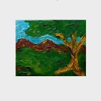 """The Yellow Tree Original Oil Painting on Canvas by Scott Brookins 8"""" X 10"""""""