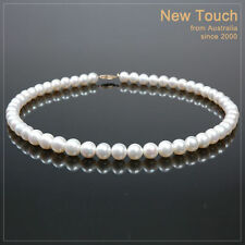 w/ 14K Gold clasp Aaa grade 8mm-9mm pearl necklace