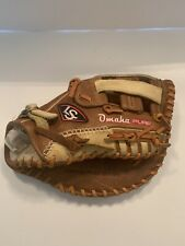 "LOUISVILLE SLUGGER OMAHA PURE FIRST BASE MITT 13"" FGPRBN6-FBM1 OOP RARE"