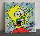 10x10 Black Light The Simpsons Graffiti Drip Bart Simpson Acrylic Art Painting