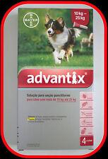 Antiparasitario perros pipetas Advantix Bayer (4p) 10-25kg
