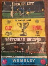 Norwich City League Cup Home Teams L-N Football Programmes