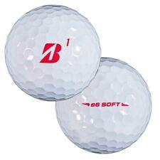 6 Dozen NEW Bridgestone e6 Soft 'Red B' Golf Balls Bulk / No Logo - White