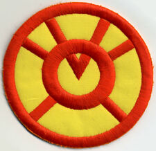 "3.5"" Orange Lantern Corps Classic Style Embroidered Patch Variant on Yellow"