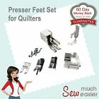 Sewing Machine Walking Foot Presser Quilters Feet Set Janome Brother Elna Singer