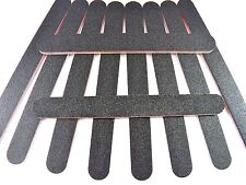 5x Black Nail Files Acrylic Emery Board Grit Nail Art Buffer Large Gel Cosmetic