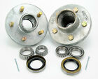 (2)- Boat Trailer Hot Dipped Galvanized 3500lbs Hub 5 Bolt Lug with Bearing Kit