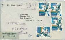 BIRDS  EAGLES - POSTAL HISTORY COVER via CLIPPER ! ECUADOR 1969