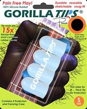 GORILLA TIPS FINGERTIP GUARDS/PROTECTORS for GUITAR BANJO UKULELE SMALL CLEAR
