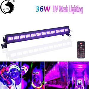 36W 12 LED UV Black Stage Light Wall Wash Lights Bar DMX Disco Party DJ Lights