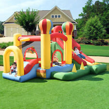 Inflatable Bounce House Moonwalk Bouncer Castle Jumper with Slide and Balls Kids