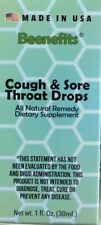 Beenefits Cough & Sore Throat Drops All Organic - Natural Remedy