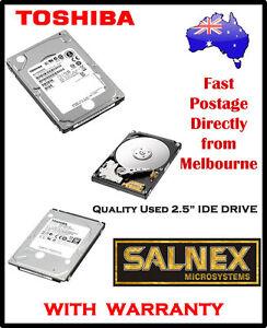 "Toshiba 40GB 2.5 ""  IDE Hard Drive Model: MK4026GAXB ZE01 T IBM Part No:71P707"