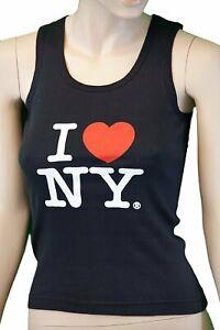 I Love NY Ribbed Tank Top Ladies Heart Logo