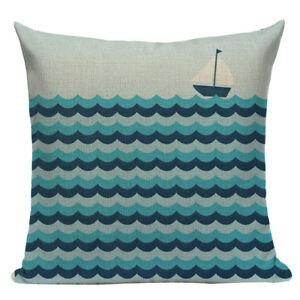 Nautical Cushion Cover, ship, boat, cotton canvas, seaside, cornwall, beachhouse