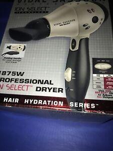 2004 Vidal Sassoon 1875W Ion Styler Hair Dryer VS521 In Original Retail Box