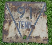 Vintage 1950's State Route 91 Tennessee Large Highway Road Sign