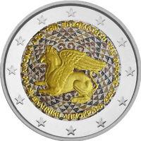 2 Euro Gedenkmünze Griechenland 2020 Thrakien coloriert / Farbe / Farbmünze 2