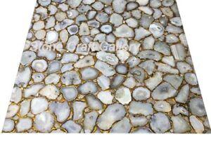 "48"" x 48"" Agate Coffee Table Counter Top Handmade pietradura Home decor"
