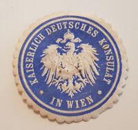 Siegelmarke Vignette KAISERLICH DEUTSCHES KONSULAT IN WIEN (9335-5)