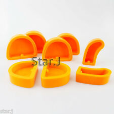 8pcs Dental Lab Silicone Plaster Model Former Base Molds Mould Tool Round