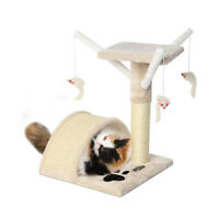 17 inch Cat Tree Kitten Scratching Post Sisal Activity Tree with Mouse Toys