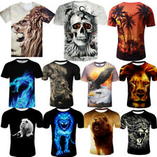 Summer Animals 3D Printed Men's Crew Neck Short Sleeve Tees Tops Coco T-Shirt