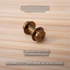 Benchmade 940-1 Osborne BRONZE Anodized Custom Titanium Axis Lock - No Knife